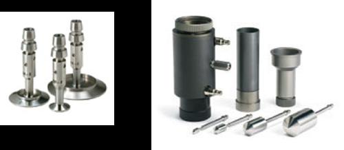 コーンプレートタイプ、二重円筒(シリンダー)タイプ、ゲル測定タイプ